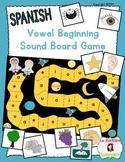 Beginning Sound Recognition: Initial Sound Board Game - Vowels AEIOU (Spanish)