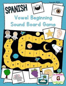 Beginning Sound Recognition: Initial Sound Board Game - Vo