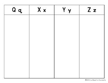 Beginning Sound Recognition: Initial Sound Word Sort - Q X Y Z (Spanish)