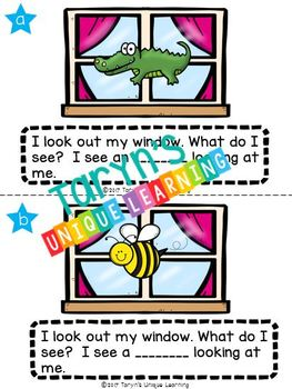 Beginning Sound Riddles and Rhyme- Outside My Window
