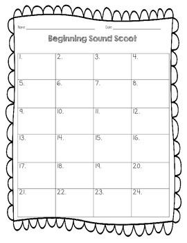 Beginning Sound Scoot