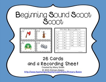 Beginning Sound Scoot