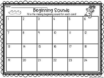 Beginning Sound Scoot {task cards!}