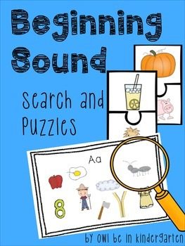 Beginning Sound Search & Puzzles