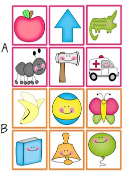 Beginning Sound Search and Find Puzzle Matching Game