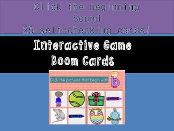 Beginning Sound Self-Checking Boom Cards