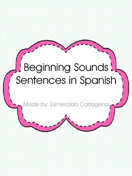 Beginning Sound Sentence Building (Spanish)
