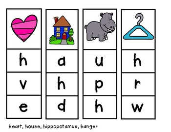 Beginning Sound Slip Cards
