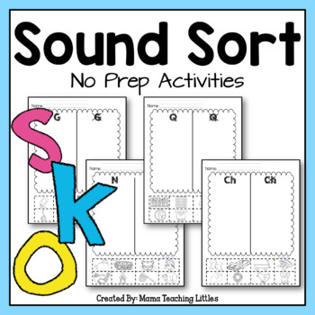 Beginning Sound Sort - CCSS Aligned