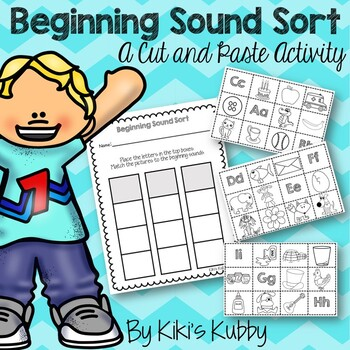 Beginning Sound Sort: A Cut and Paste Activity