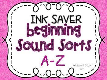 Beginning Sound Sort A-Z [INK SAVER!]