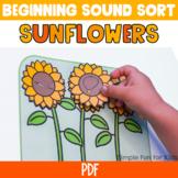 Beginning Sound Sort A-Z: Sunflowers