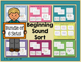 Beginning Sound Sort Bundle, Sets 1-6