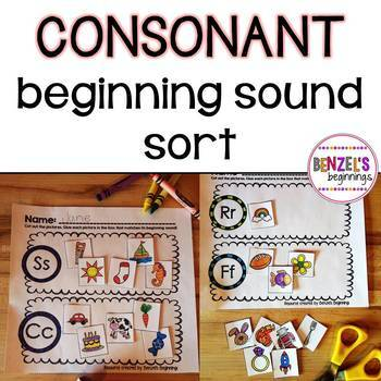 Consonant Beginning Sound Sort
