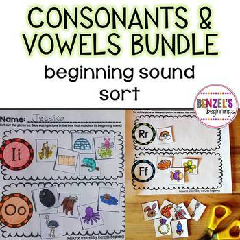 Beginning Sound Sort Consonants & Vowels Bundle
