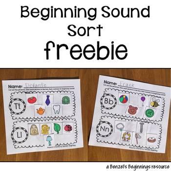 Beginning Sound Sort FREEBIE
