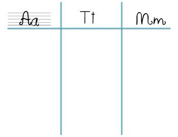 Beginning Sound Sort, Letter A, T, & M
