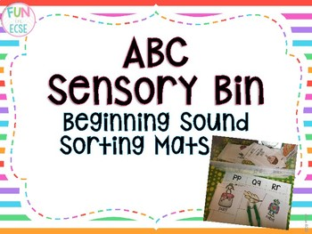 Beginning Sound Sort Mats Freebie