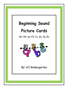 Beginning Sound Sort ELA Kindergarten Skills Unit 4