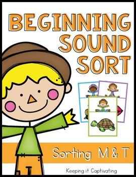 Beginning Sound Sort {Sorting M & T}