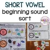 Vowel Beginning Sound Sort
