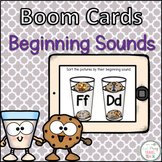 Beginning Sound Sort Word Boom Cards and Seesaw