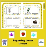 Beginning Sound Sort for A E I and O - Vowel sort folder s