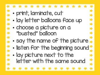 Beginning Sound Sort promoting Phonemic Awareness