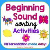 Beginning Sound Sorting