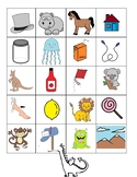 Beginning Sound Sorting Game (Color and B&W Version)