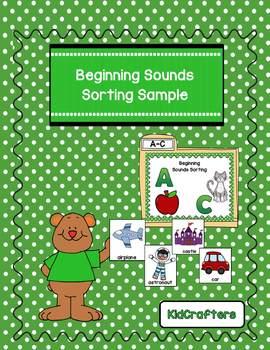 Beginning Sound Sorting Sample
