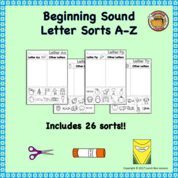 Beginning Sound Sorts- A - Z!