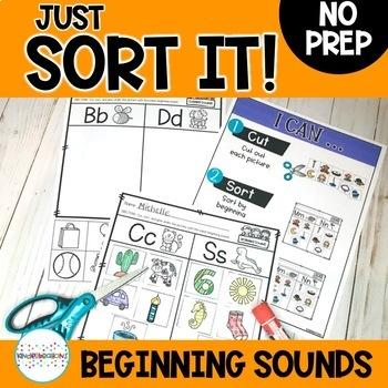 Beginning Sound Sorts- Consonant vs Consonant: Just Sort It-Phonemic Awareness
