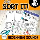 Beginning Sound Consonant Picture Sorts | Phonemic Awarene
