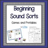 Alphabet A-Z Beginning Sound Games and Printables
