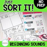 Beginning Sound Sorts: Just Sort It-Phonemic Awareness- Di