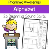Phonemic Awareness - 26 Beginning Sound Picture Sorts