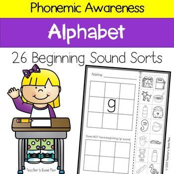 Phonemic Awareness - 26 Beginning Sound Picture Sorts