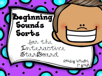 Beginning Sound Sorts for Reading Wonders on the StarBoard