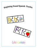 Beginning Sound Spanish Puzzles