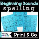 Beginning Sound Spelling No Prep