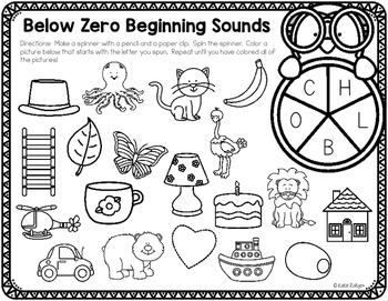 Beginning Sound Spinner Games