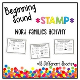 Beginning Sound Stamp - Word Families