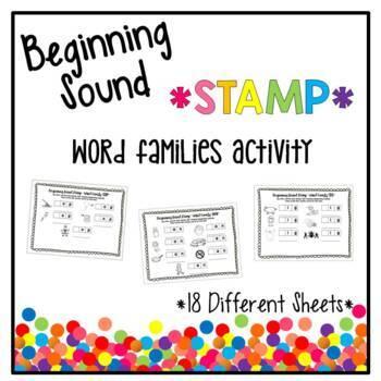 Beginning Sound Stamp - Word Families