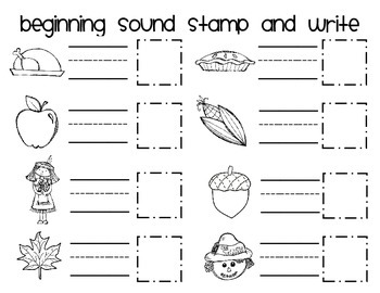 Beginning Sound Stamp and Write - FALL FREEBIE!