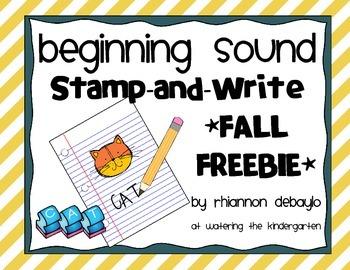 Beginning Sound Stamp and Write - FALL FREEBIE!
