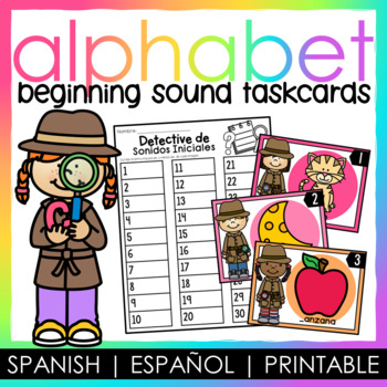 Beginning Sound Task Cards - Spanish / Sonido Inicial