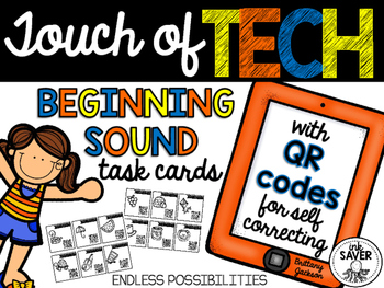 Beginning Sound Task Cards with QR Codes