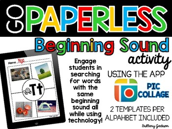 Beginning Sound Templates using Pic Collage