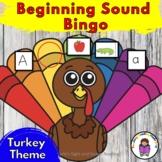 Thanksgiving Game:  Beginning Sound Turkey Bingo or Pin th